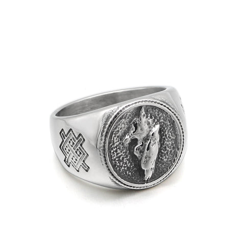 Alpha Signet Wolf Ring - American Wolves