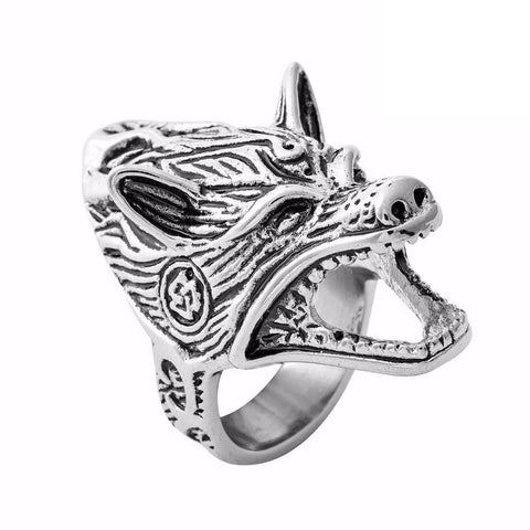 Bottle Opener Wolf Ring - American Wolves