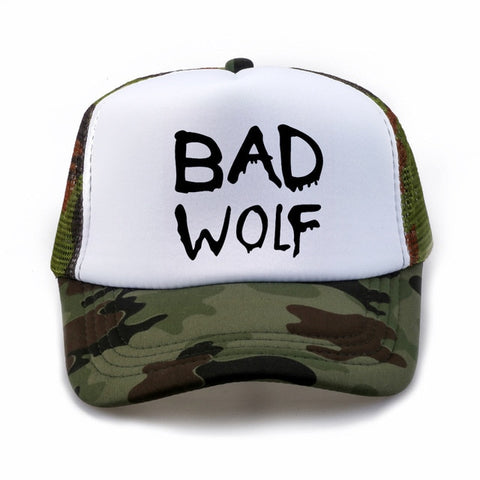 Camouflage Trucker Bad Wolf Hat - American Wolves