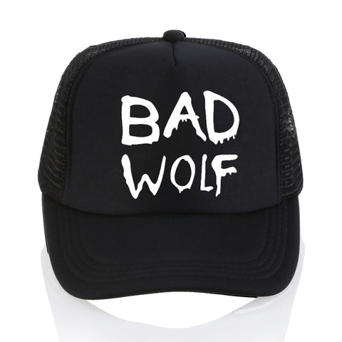 Black Trucker Bad Wolf Hat - American Wolves
