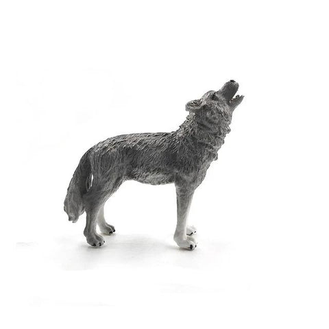 Wild Roaring Wolf Figurine - American Wolves