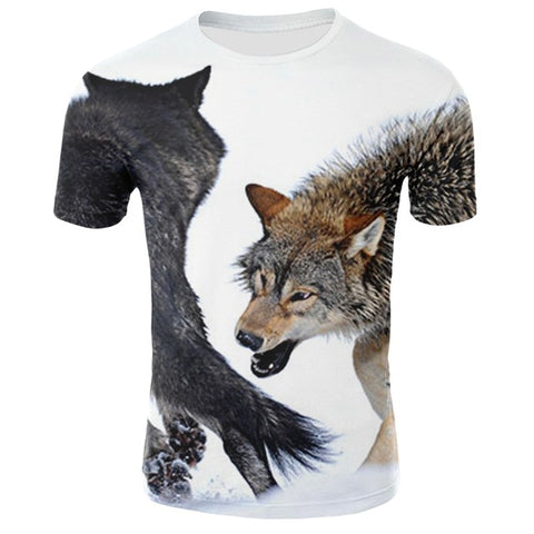 Fighting Wolf T-Shirt - American Wolves