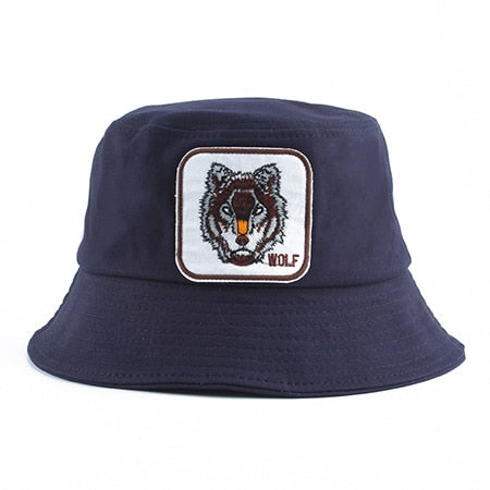 Navy Wolf Bucket Hat - American Wolves