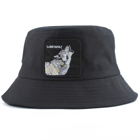 Black Lonewolf Bucket Hat - American Wolves