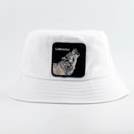 White Lonewolf Bucket Hat - American Wolves