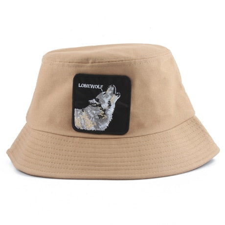 Brown Lonewolf Bucket Hat - American Wolves