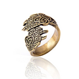 The Claws Gold Wolf Ring - American Wolves