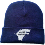 Blue Winter Is Coming Stark Wolf Beanie - American Wolves