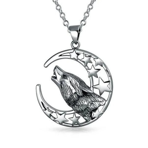 Stargazer Lone Wolf Necklace - American Wolves