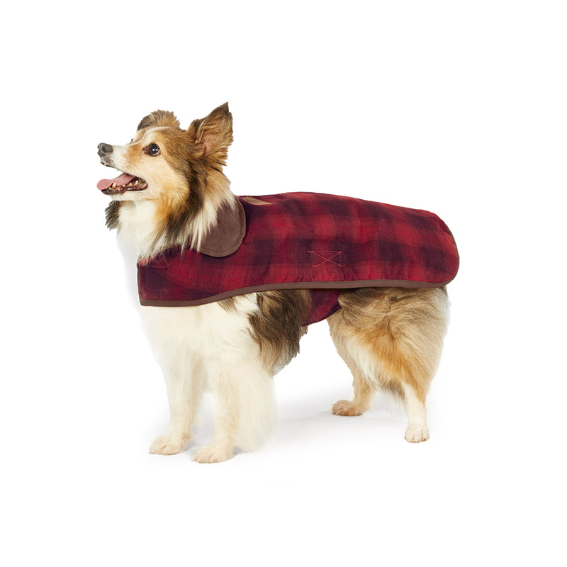 Pendleton Red Ombre Plaid Dog Coat