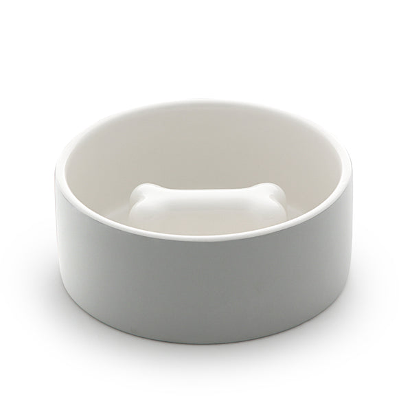 PAIKKA Slow Feed Bowl For Concrete Grey