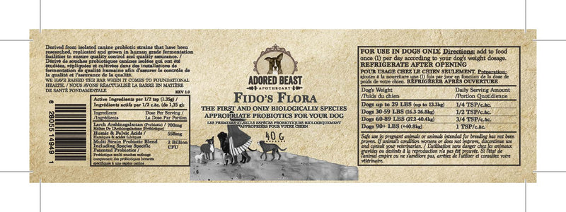 New fido's flora (80g) dog supplements