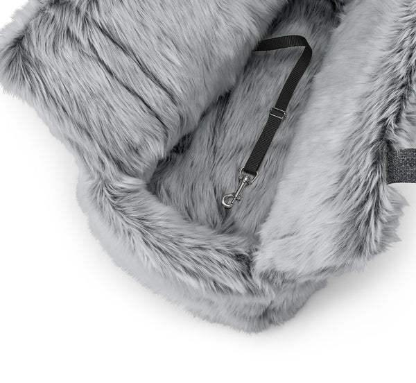 Via Dog Carrier: Faux Fur Pebble