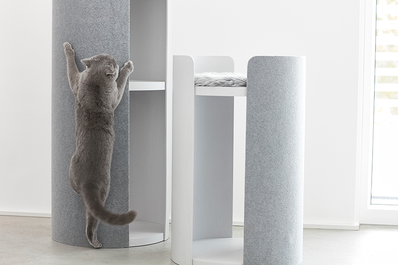 Torre Cat Scratching Post / GREY