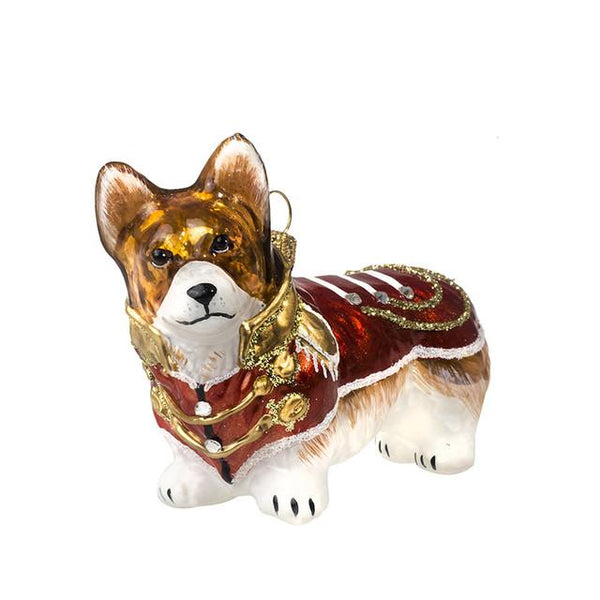 Corgi Ornament in Vintage Military Coat