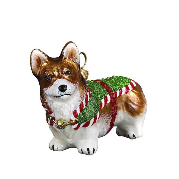 Corgi Ornament Santa's Little Yelper