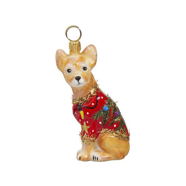 Chihuahua Ugly Christmas Sweater Ornament