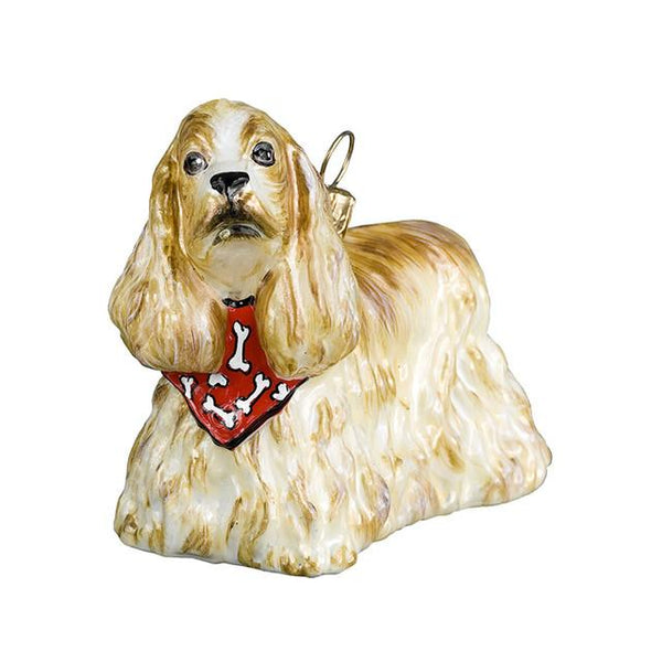 Cocker Spaniel Ornament with a Bandana
