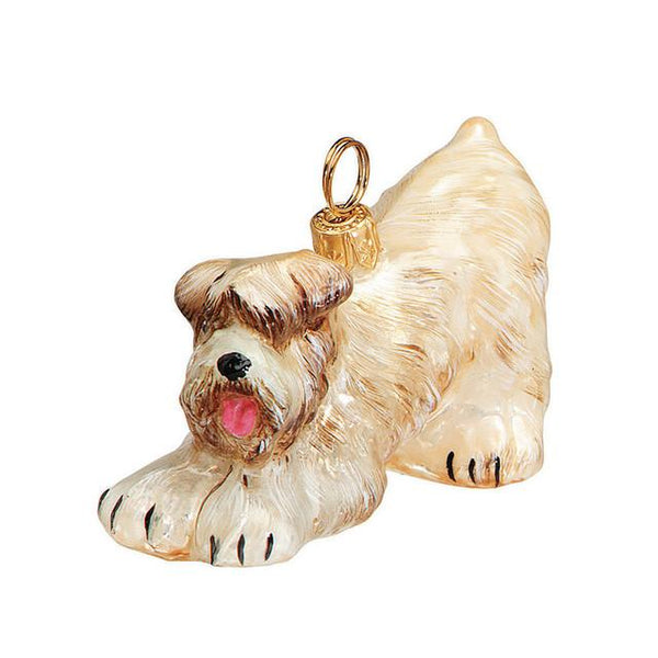 Soft Coated Wheaten Terrier Luxury Christmas Ornament