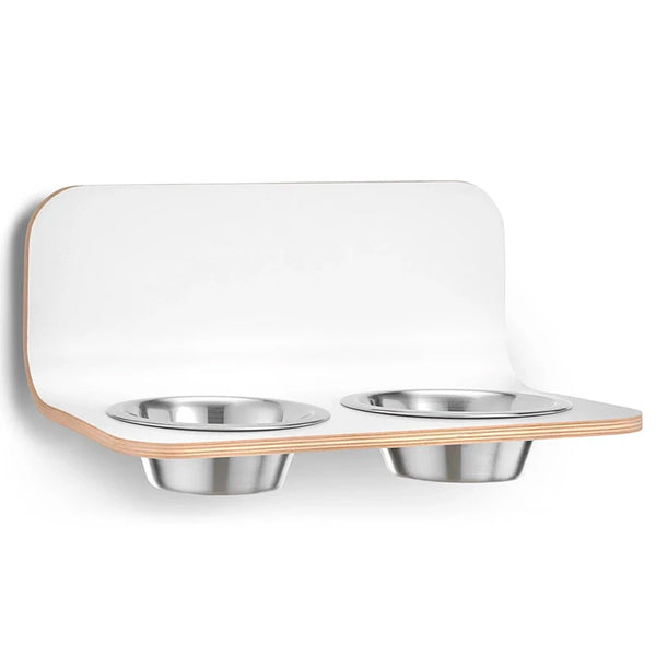 Wall mounted stainless steel dog bowls nontoxic