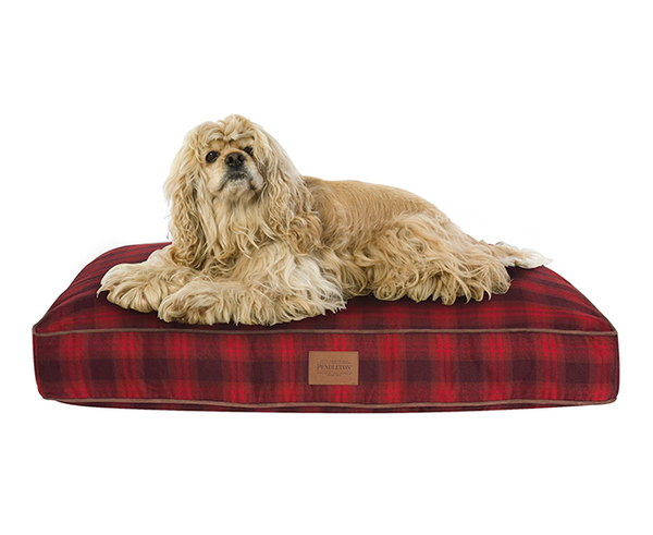 Red Ombre Plaid Doggie Napper