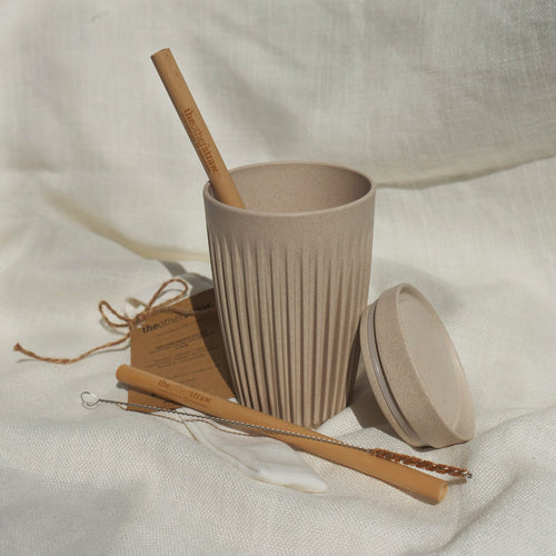 Smoothie/Juice/Iced Coffee Huskee Cup + Straw Bundle (for one)