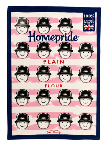Tom Hovey Collaboration Homepride Tea Towel - Plain Flour