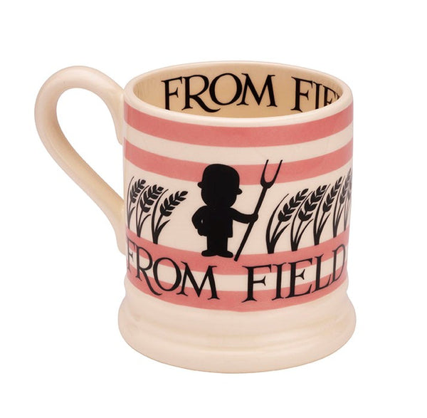 Emma Bridgewater 1/2 Pint Mug - Pink Field to Kitchen - (No Tokens Required)