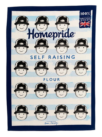 Tom Hovey Collaboration Homepride Tea Towel - Self-Raising Flour