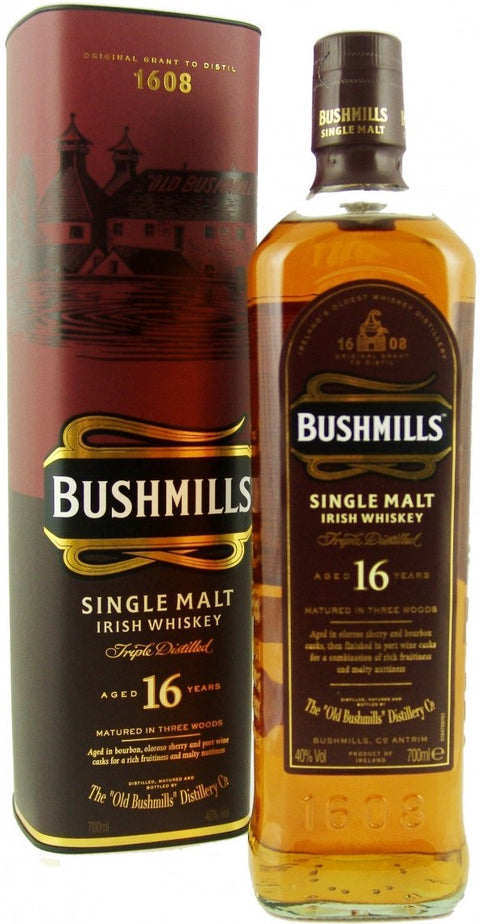 Bushmills Whiskey Single Malt Irish 16Yr 750Ml