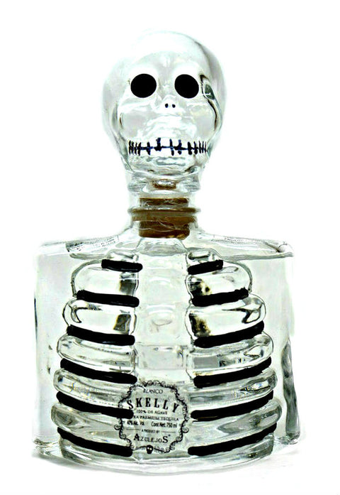 Los Azulejos Skelly Tequila Blanco Clear Bottle 750Ml