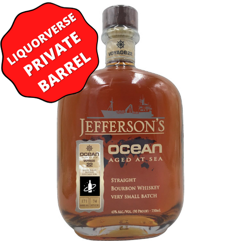 Jefferson Bourbon Ocean Aged Bottle