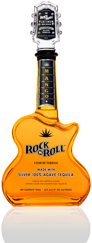 Rock N Roll Silver Mango Flavor Guitar - 750Ml
