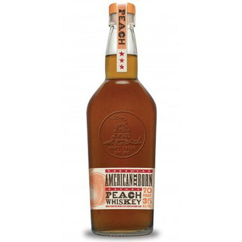 American Born Whiskey Peach Flavor 70Pf 750Ml