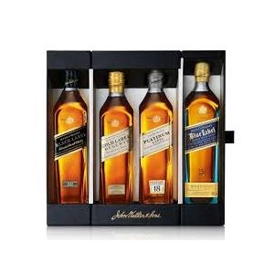 Johnnie Walker Scotch Blended Collection (Blu Blk Gld Plt ) 4X200Ml