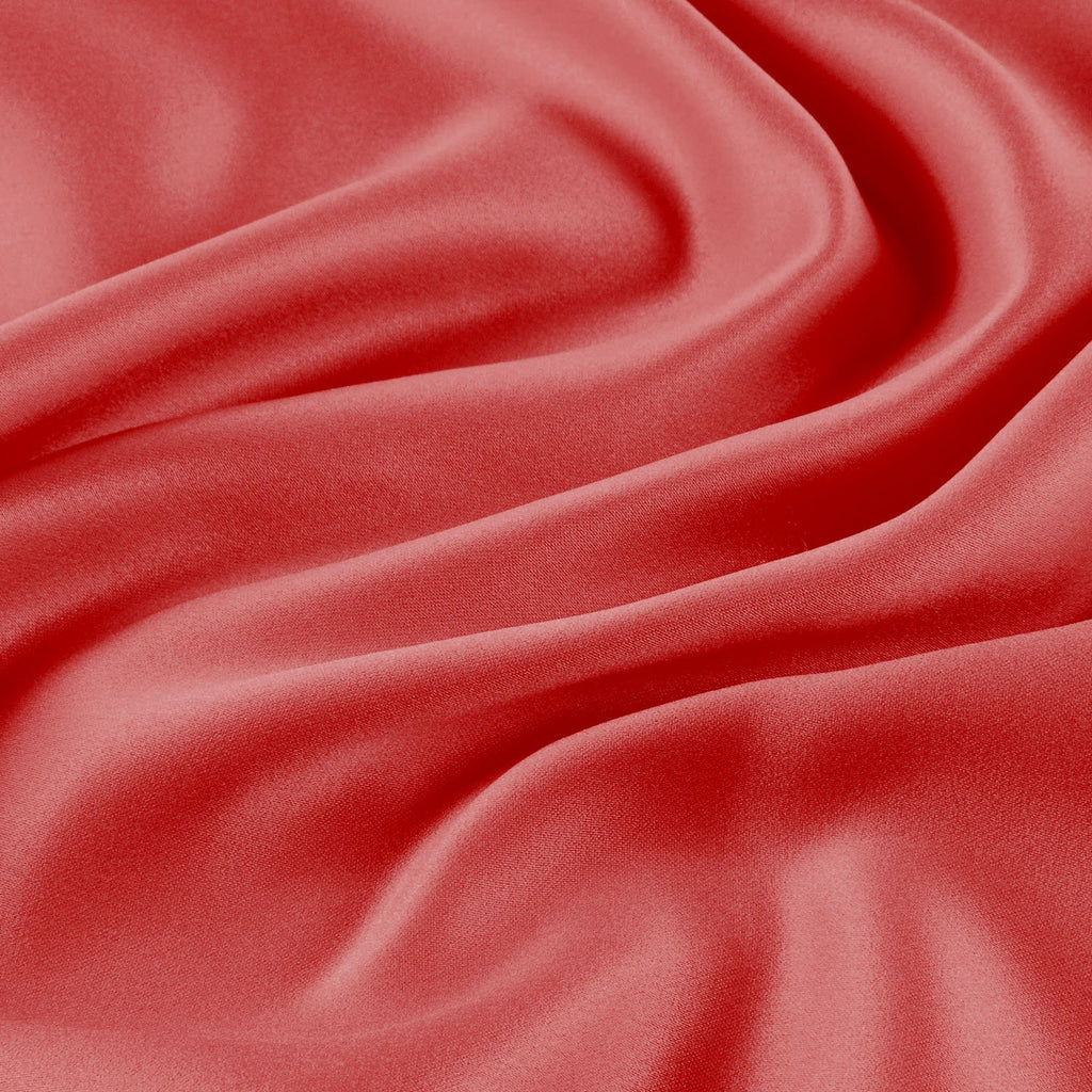 ORANGE BERRY | 037-ORANGE - SOLID BRIDAL SATIN - Zelouf Fabrics