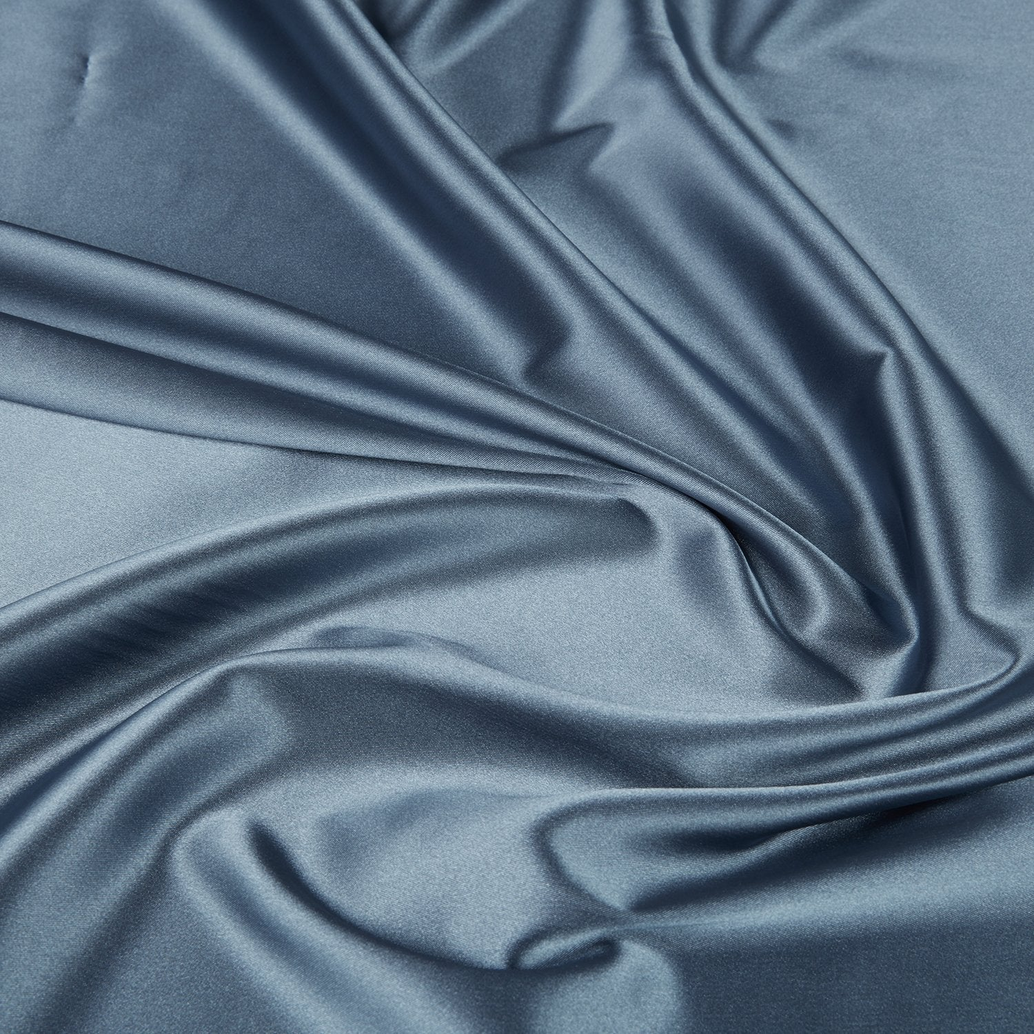 METAL GREY | 1173-GREY - SOLID ANNABELLE STRETCH SATIN - Zelouf Fabrics