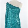 BRILLIANT TURQUOISE | 25219 - TULA FACETED ALL OVER SEQUIN MESH - Zelouf Fabrics