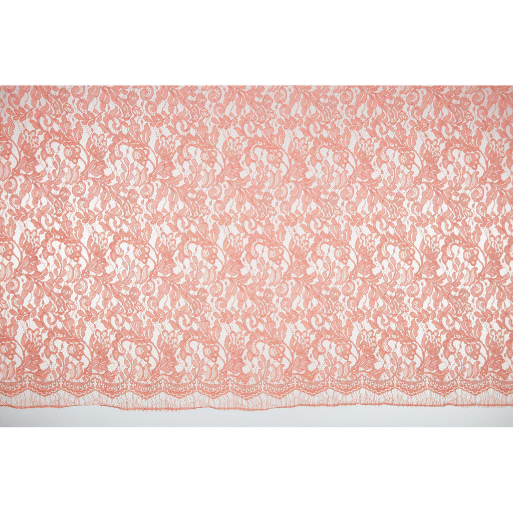 APRICOT ALLURE | 25391 - IMPACT FLORAL CORDED LACE - Zelouf Fabrics