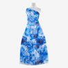 BRILLIANT COBALT | 25524-G18DP - ELLIE LARGE TONAL FLORAL PRINT PLAID ORGANZA - Zelouf Fabric