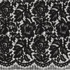 BLACK  | 5381 - CORDED LACE  [ PANEL 1.50 ]  - Zelouf Fabrics