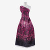 339 WINE/BLACK | 54017-7723DP - ZS1810HH PRINT ON POLY SHIMMER - Zelouf Fabrics