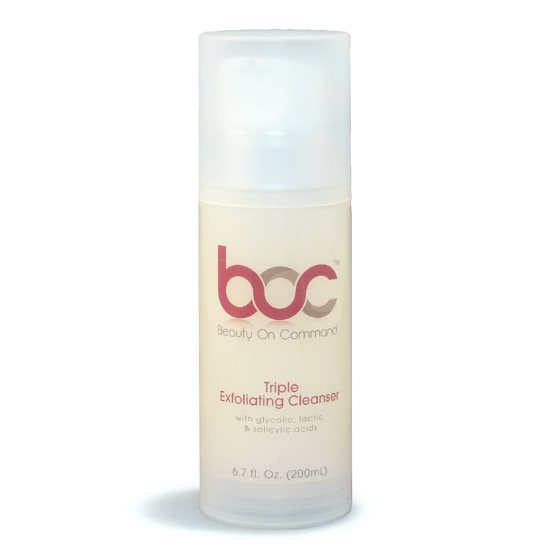 Triple Exfoliating Cleanser With Fruit Acids - beautyoncommand