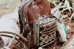Turquoise Brown Native American Classic Backpack