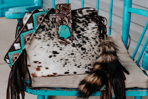 Speckled Hide Juney with Turquoise Coca Strap