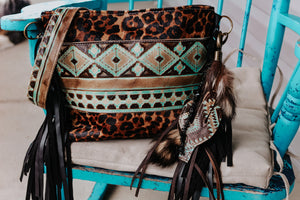 Turquoise Native American and Cheetah Reba