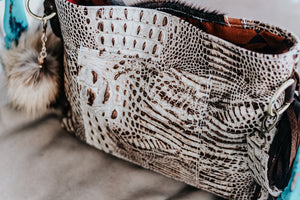 Backbone Brindle Ivory Croc Dutton