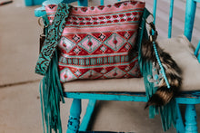 Load image into Gallery viewer, Red/Turquoise Native American Rose Gold REVERSIBLE Reba