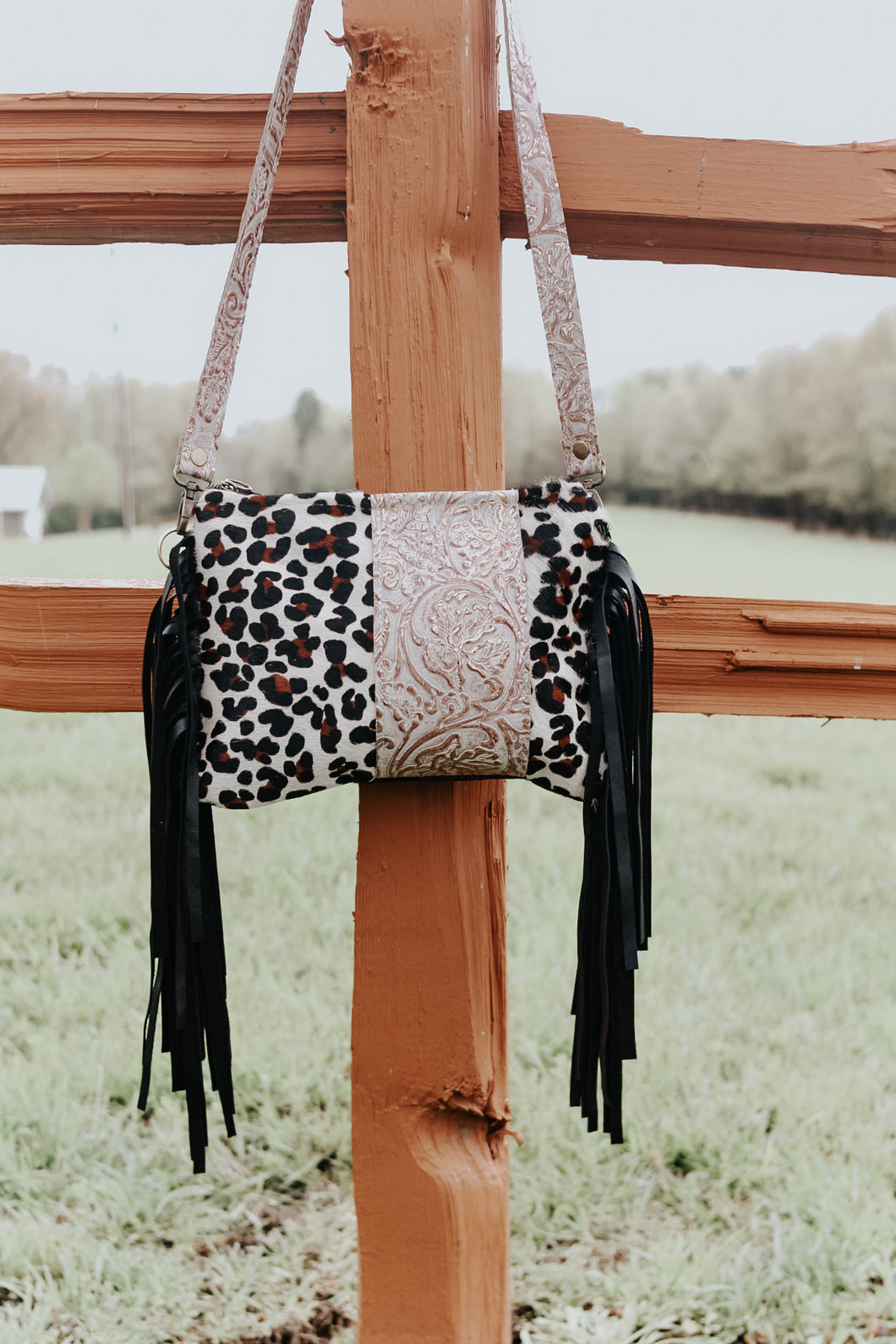 Ivory Copper Cowboy Tool and Leopard Maybelle