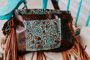 Turquoise Roses and Axis Small Juney